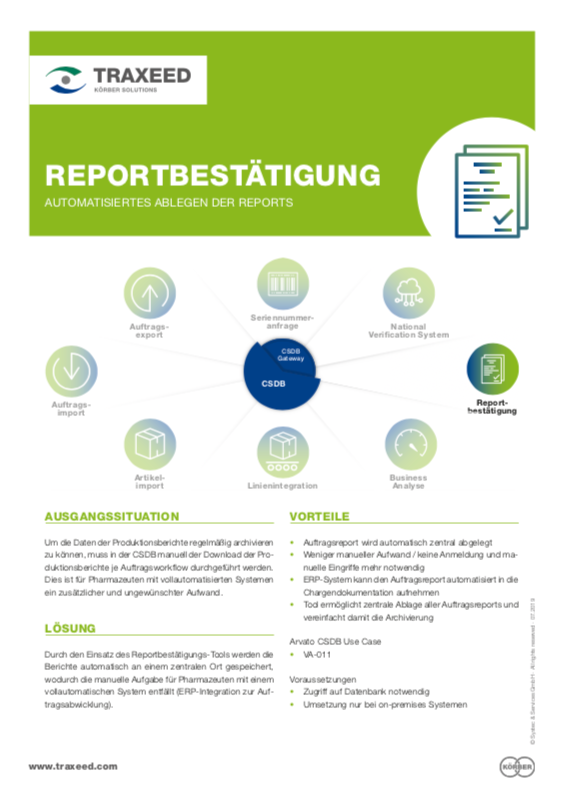 Traxeed 0026 CSDB Tool Auftragsreport