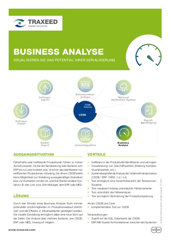 Traxeed 0027 CSDB Tool Business Analyse